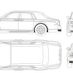 Rolls-Royce Phantom blueprint