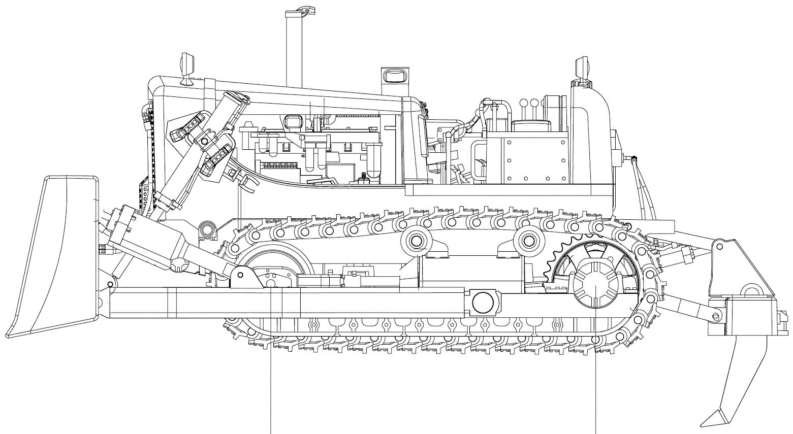 Bulldozer blueprint