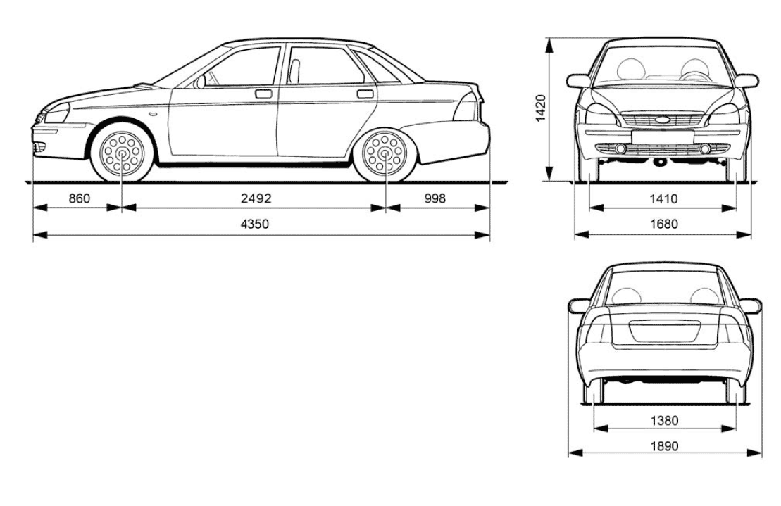 Lada Priora blueprint