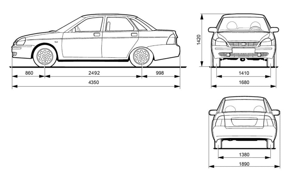 Lada Priora blueprint