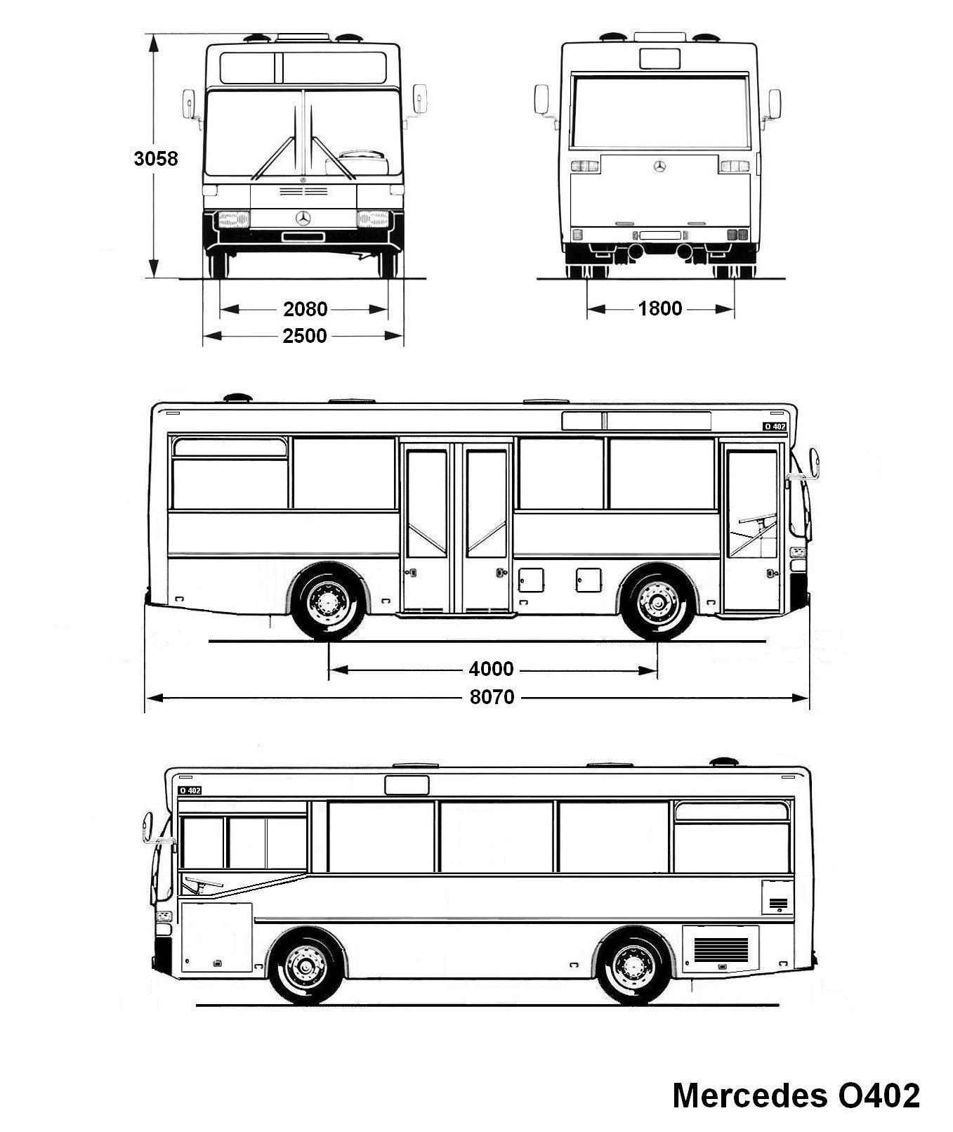 Mercedes-Benz O402 blueprint