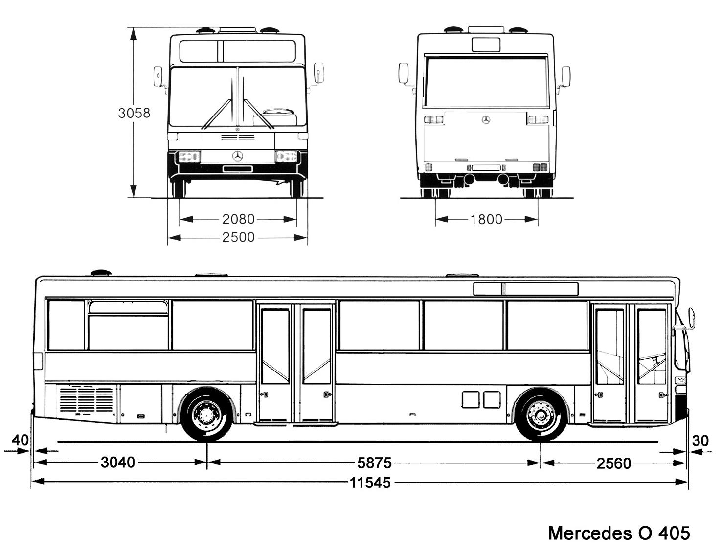Mercedes-Benz O405 blueprint
