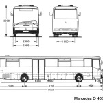 Mercedes-Benz O408 blueprint