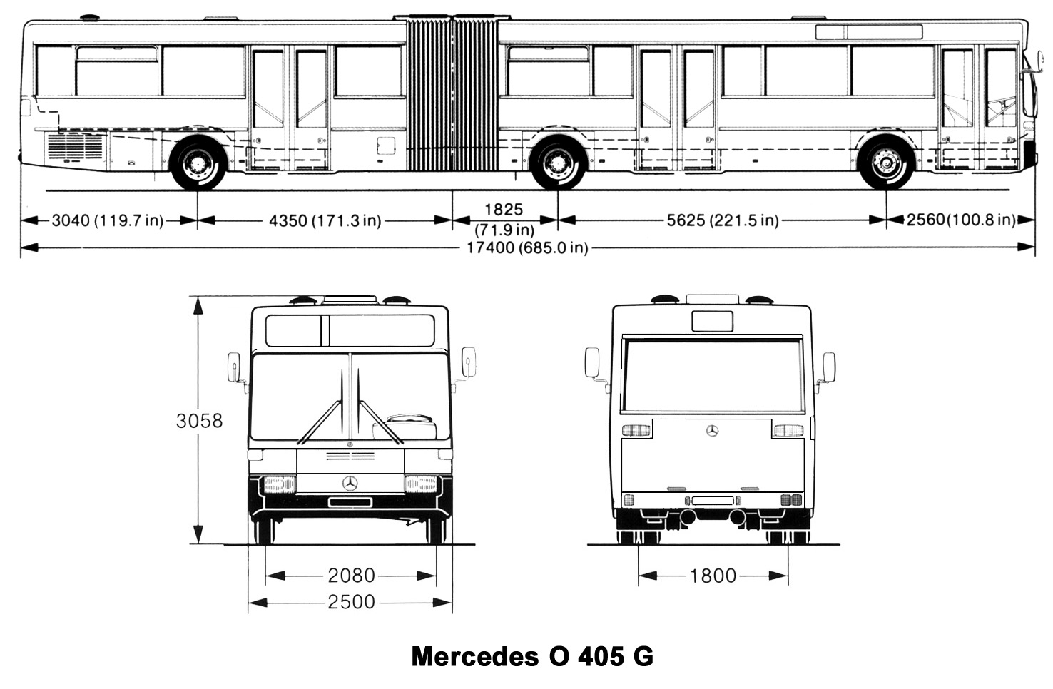 Mercedes-Benz O405 G blueprint