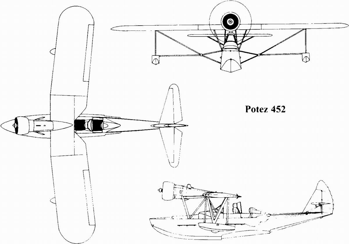 Potez 452 blueprint