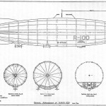 R-100 G-FAAV Zeppelin blueprint