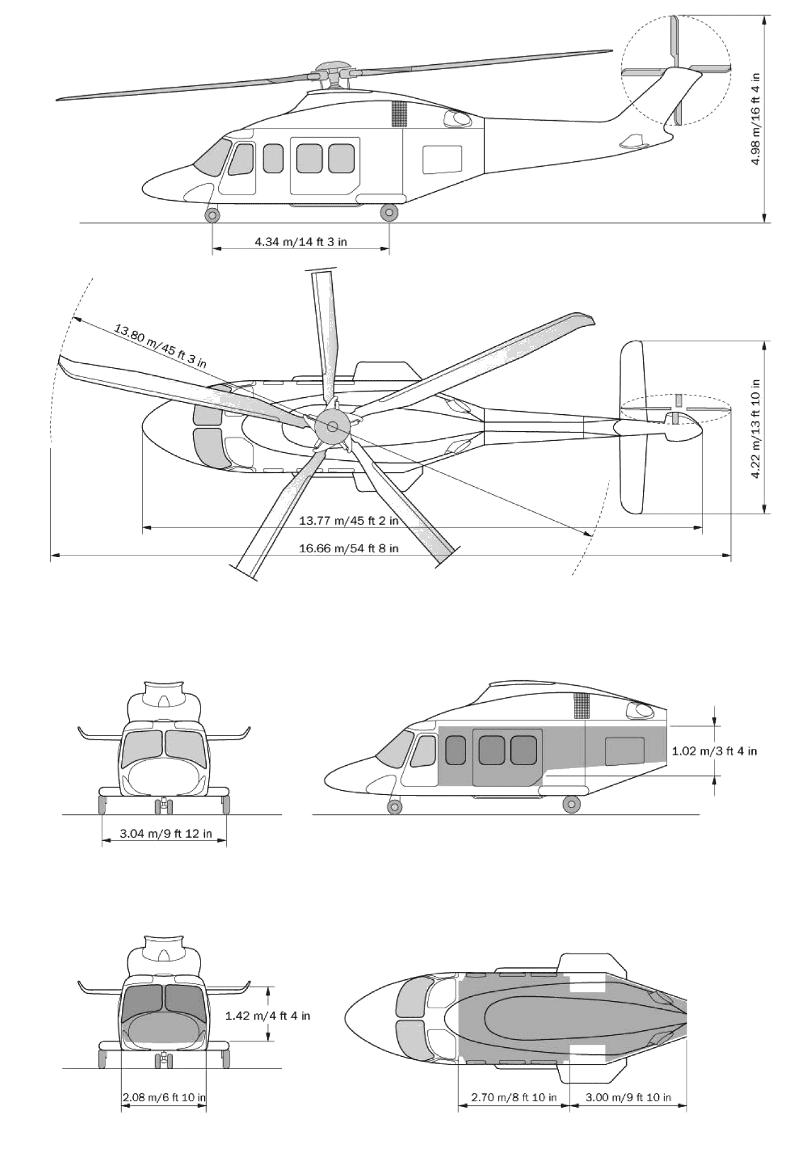 AgustaWestland AW139 blueprint