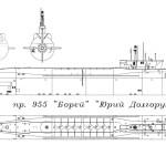 Borei-class submarine blueprint