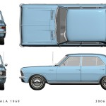 Chevrolet Opala blueprint