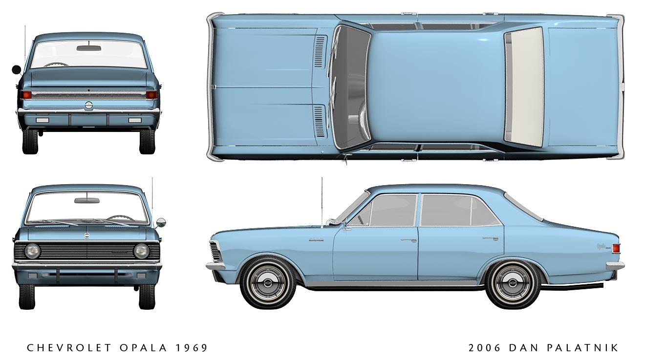 Chevrolet Opala blueprint