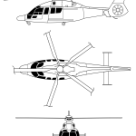 Eurocopter EC155 blueprint
