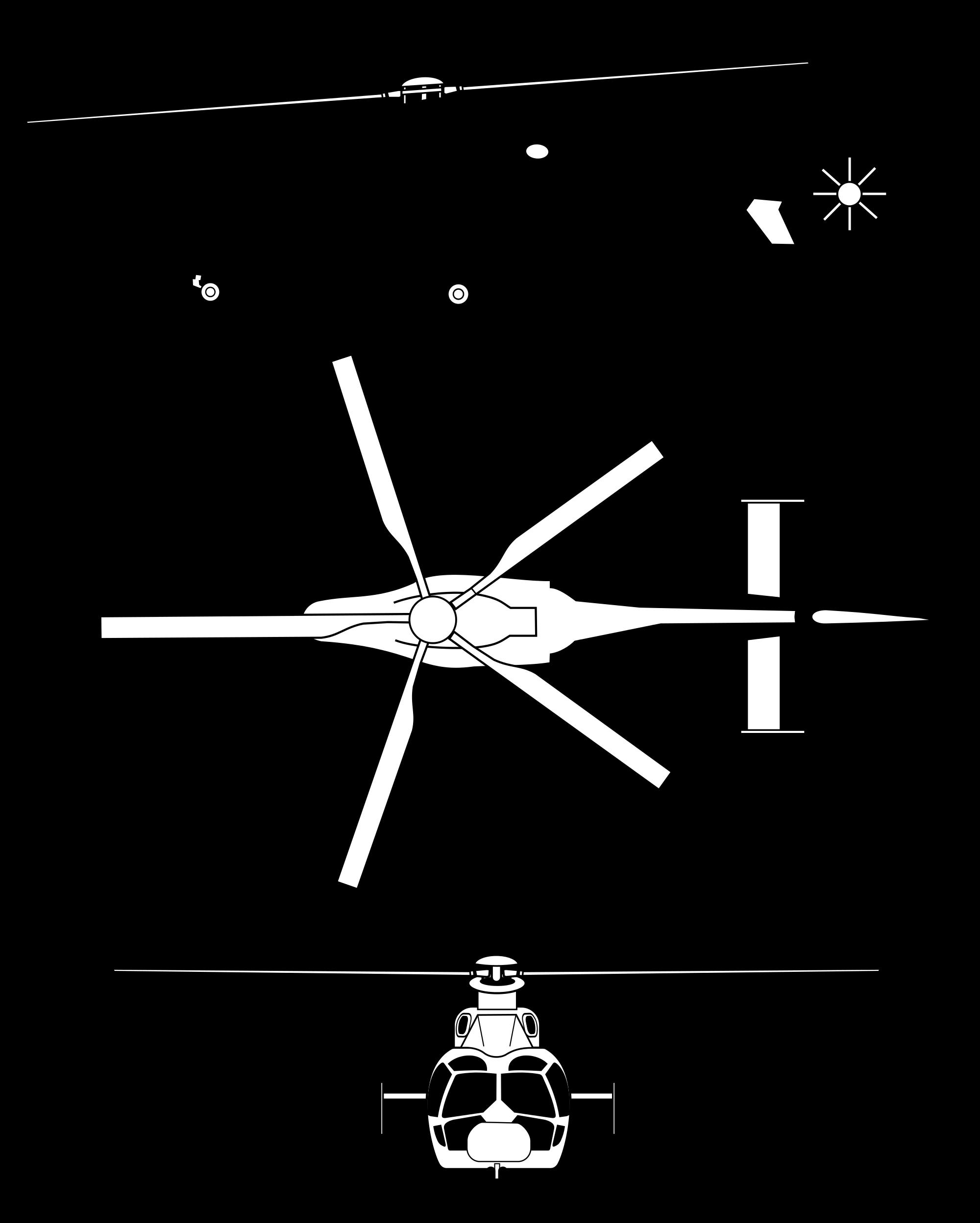 Eurocopter EC155 blueprint