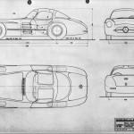 Mercedes-Benz 300 SLR blueprint