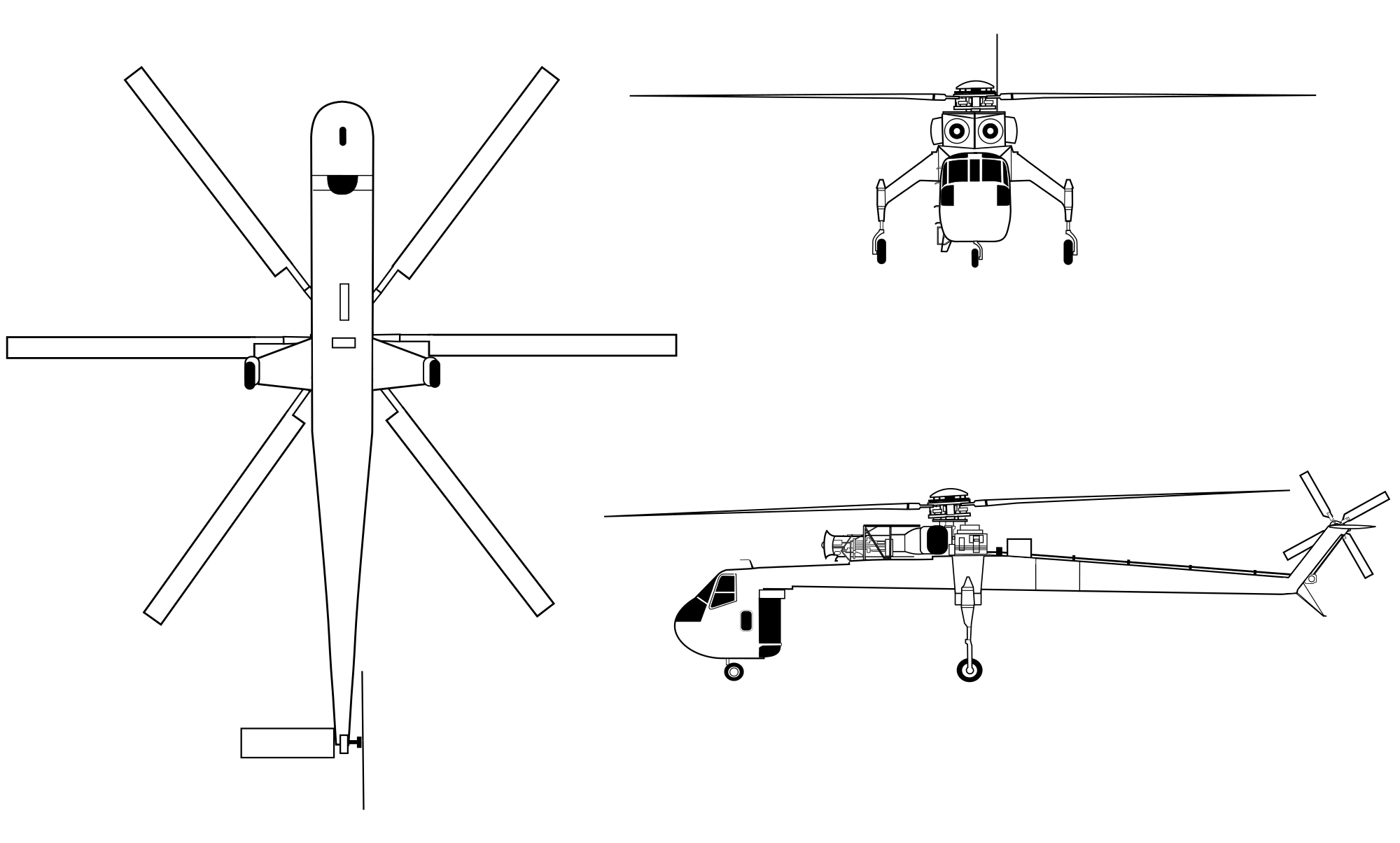 S-64 Skycrane blueprint
