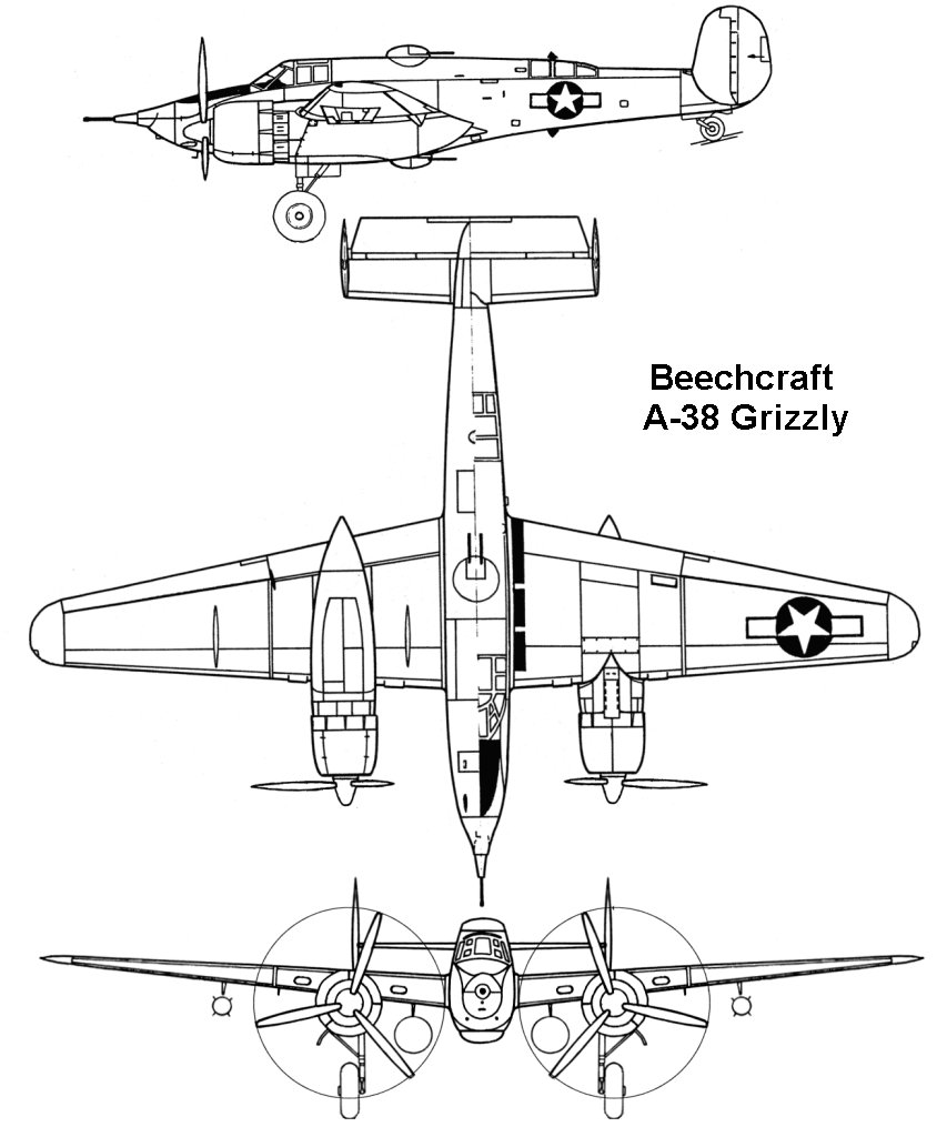 XA-38 Grizzly blueprint