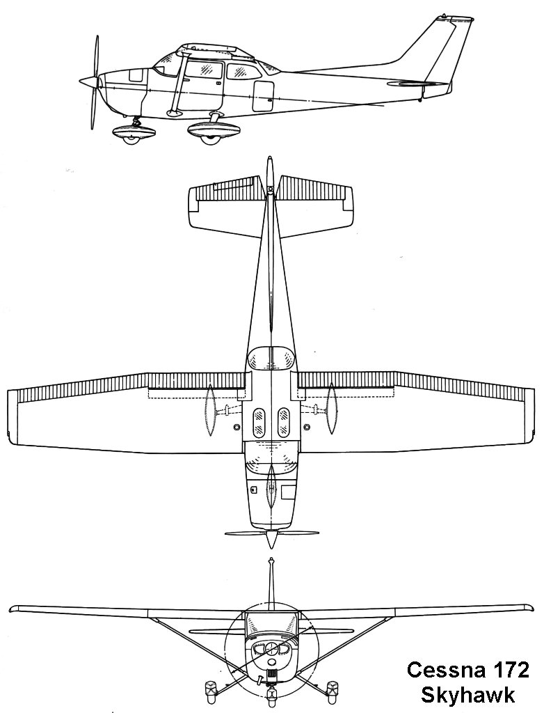 Cessna 172 blueprint