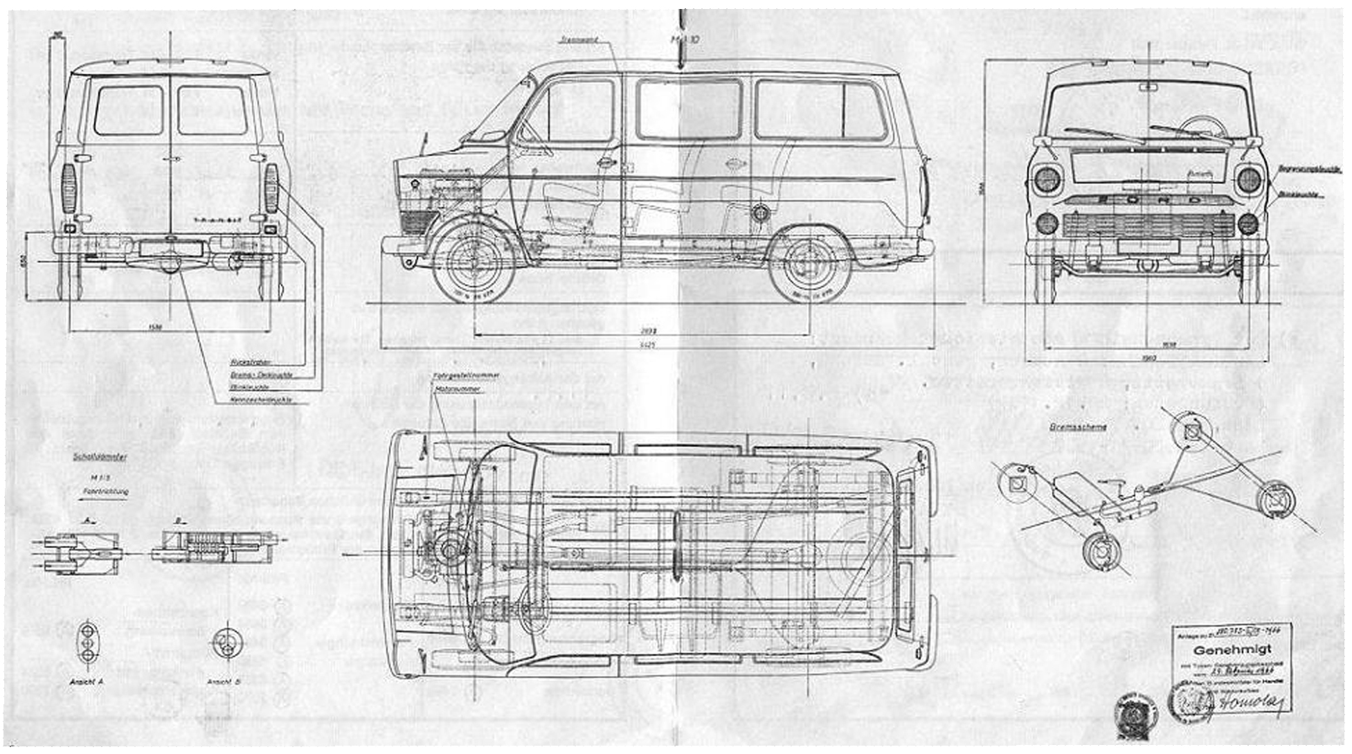 Ford Transit 1966 Blueprint - Download free blueprint for ...