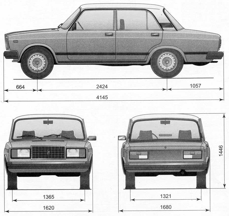VAZ-2107 blueprint