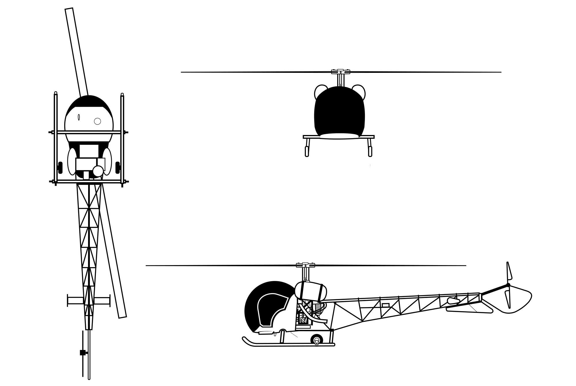 Bell H-13 Sioux blueprint