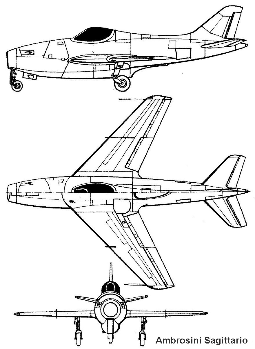 Ambrosini Sagittario blueprint