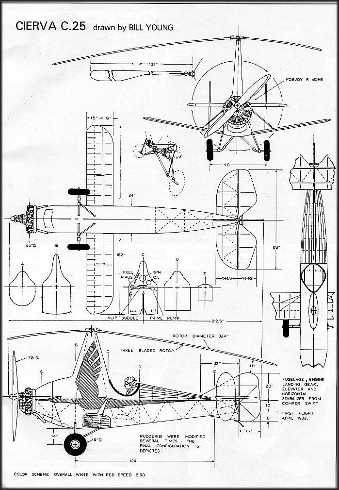 Cierva C.25 blueprint