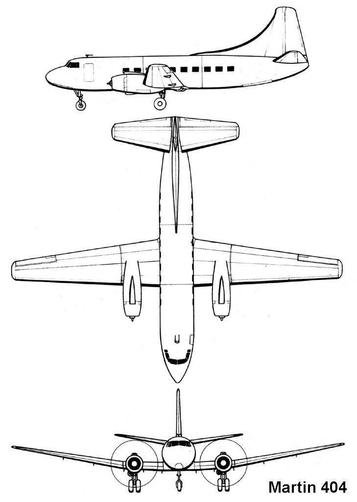 Martin 4-0-4 blueprint