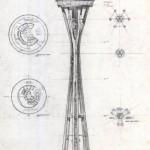 Space Needle blueprint