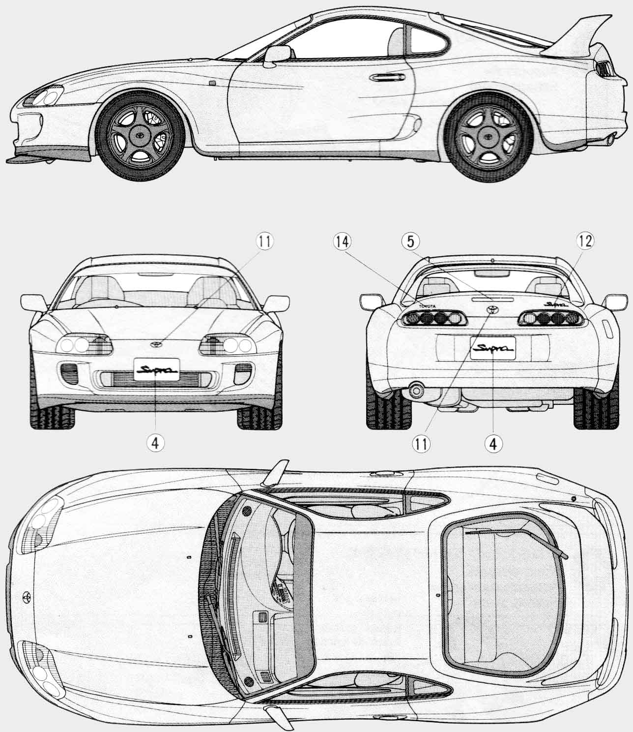 Toyota Supra 1992 Blueprint Download Free Blueprint For