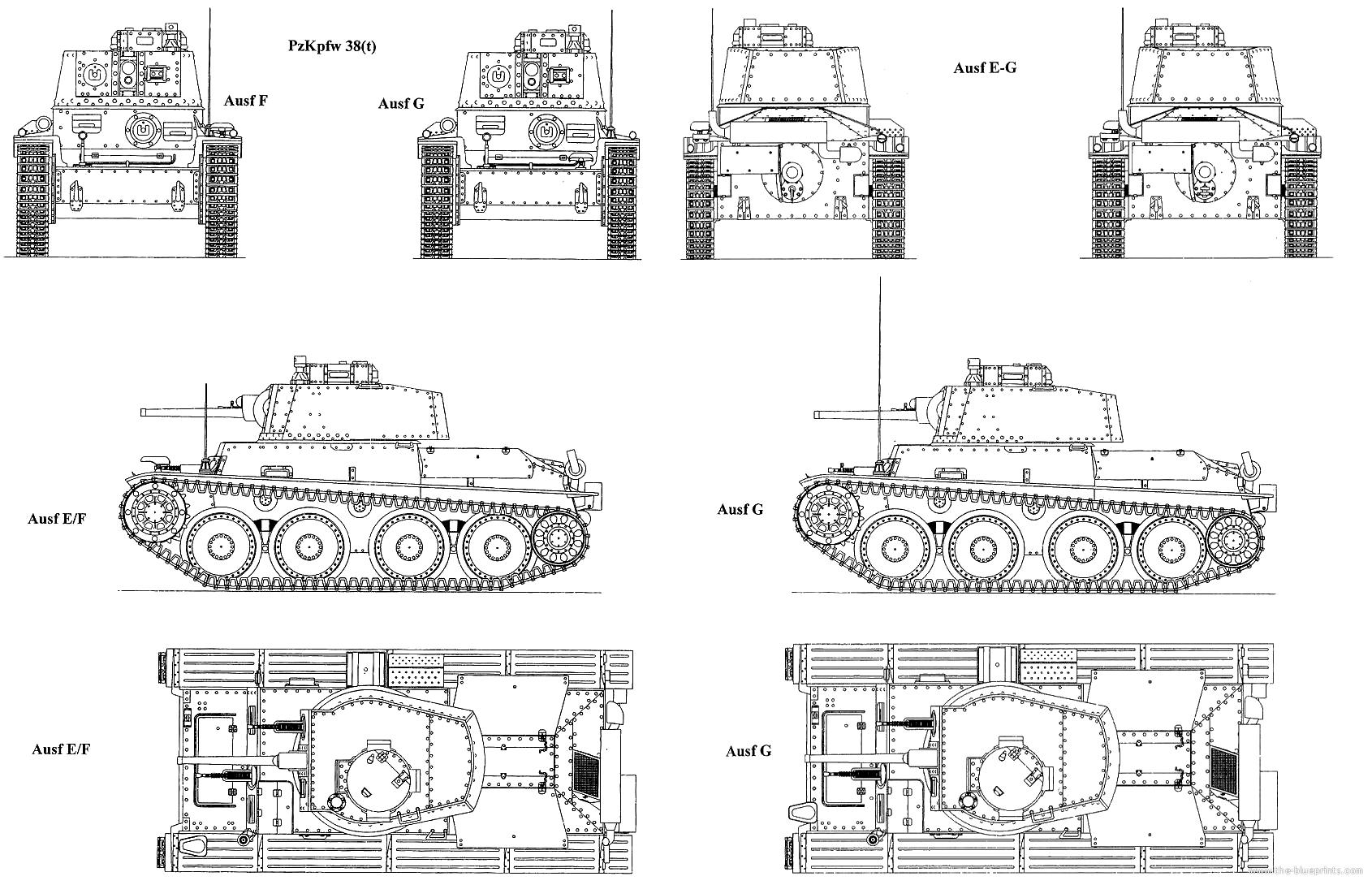 Panzer 38(t) blueprint