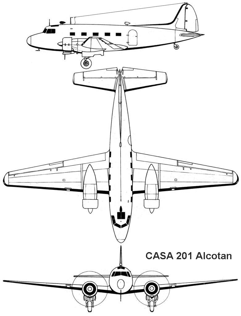 CASA C-201 Alcotán blueprint