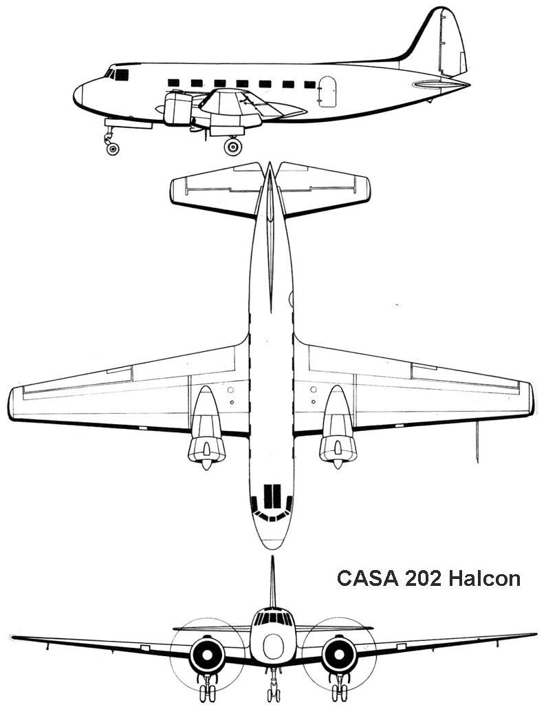 CASA C-202 Halcón blueprint