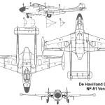 DH 112 Venom blueprint