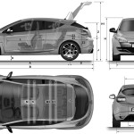Renault Megane Sport blueprint