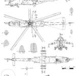 Mil Mi-35 blueprint