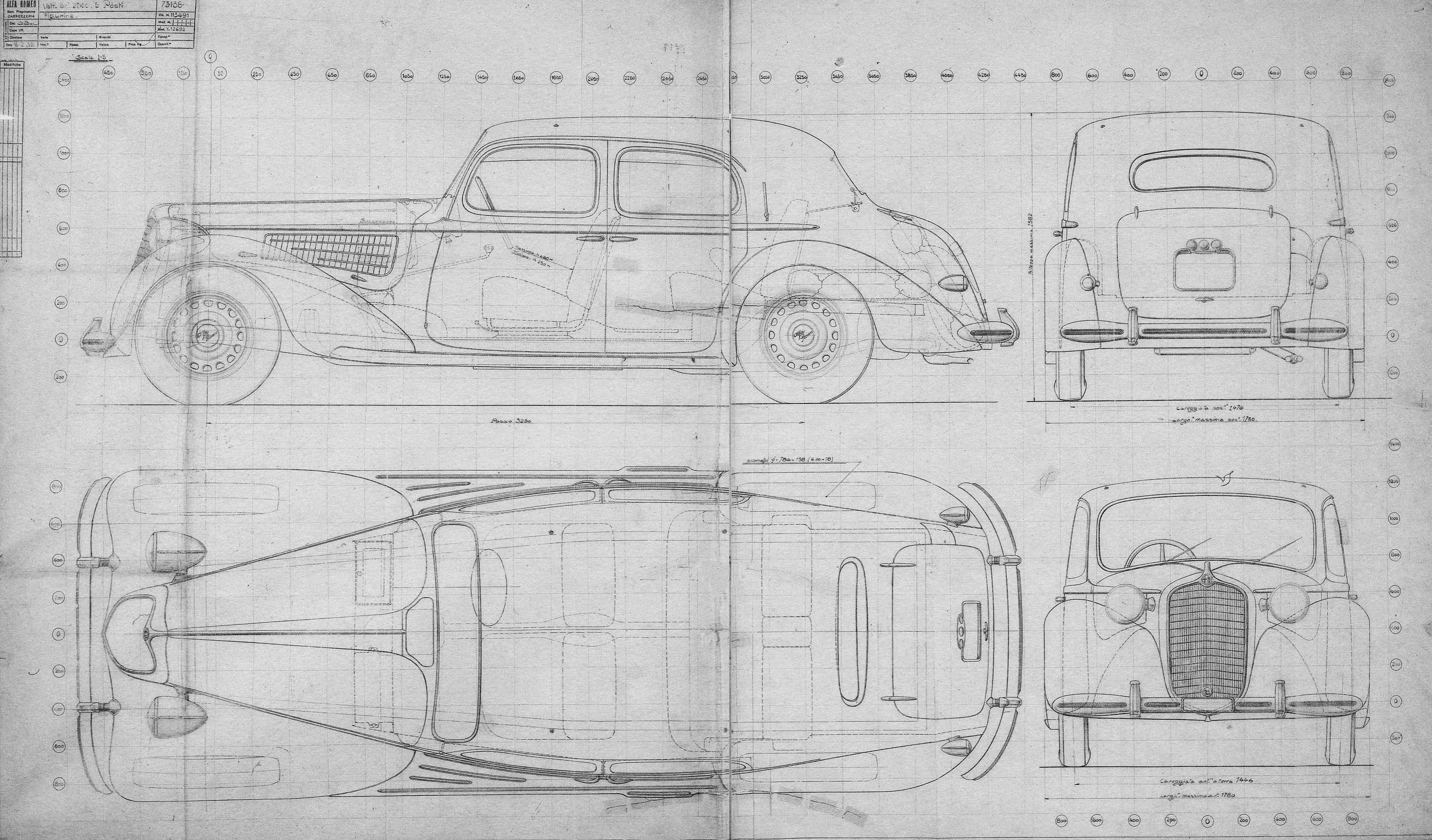 Alfa Romeo 6C 2500 blueprint
