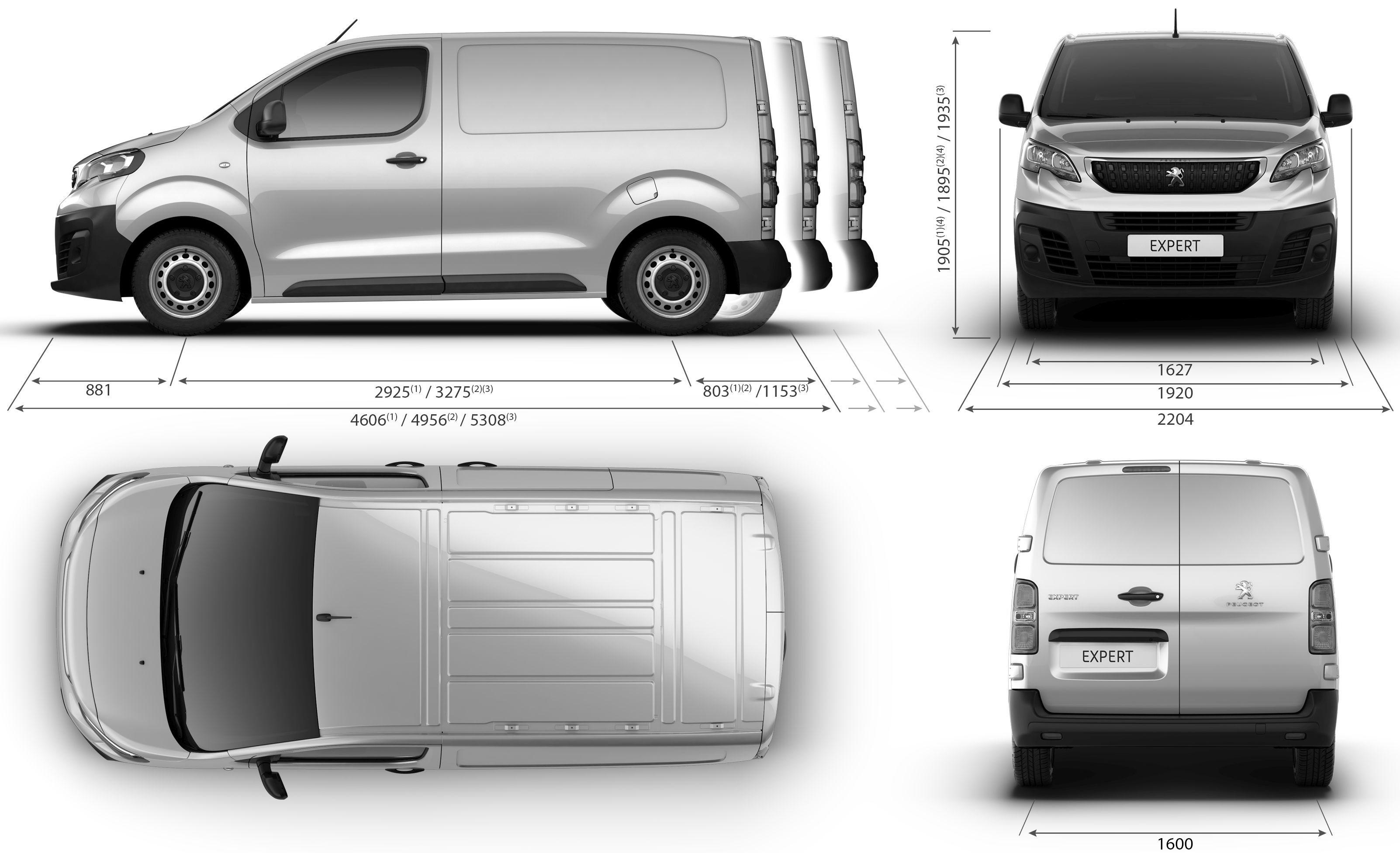 Peugeot Expert blueprint