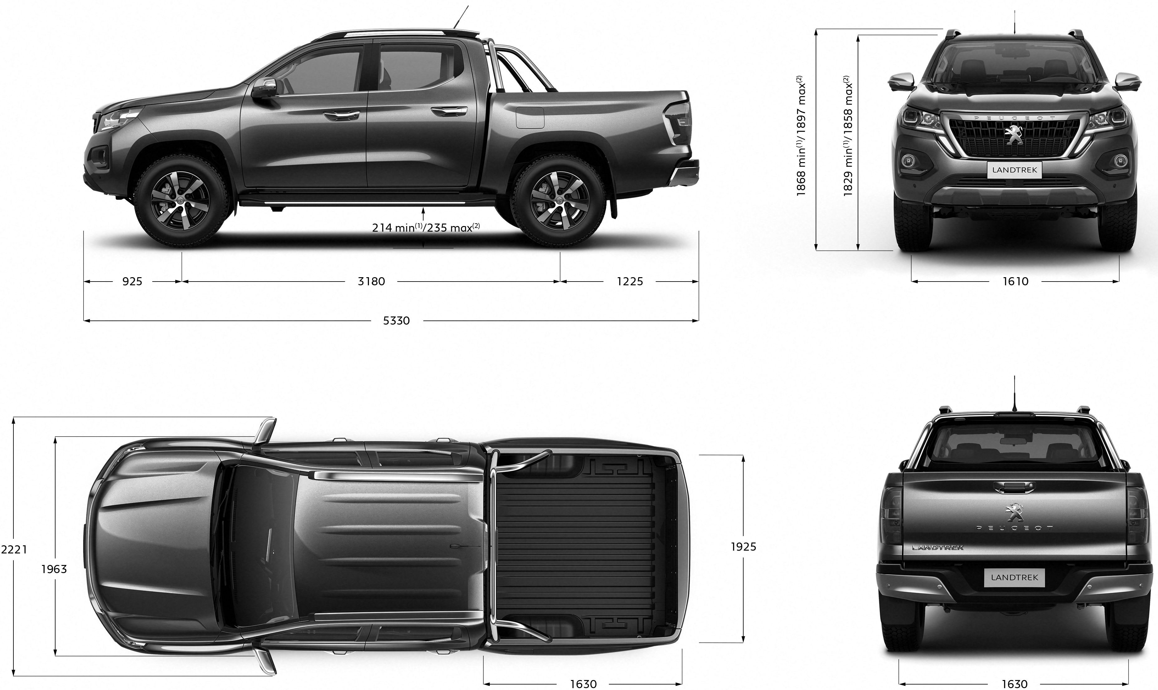 Peugeot Landtrek blueprint