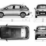Peugeot 3008 blueprint