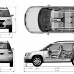 Škoda Yeti blueprint