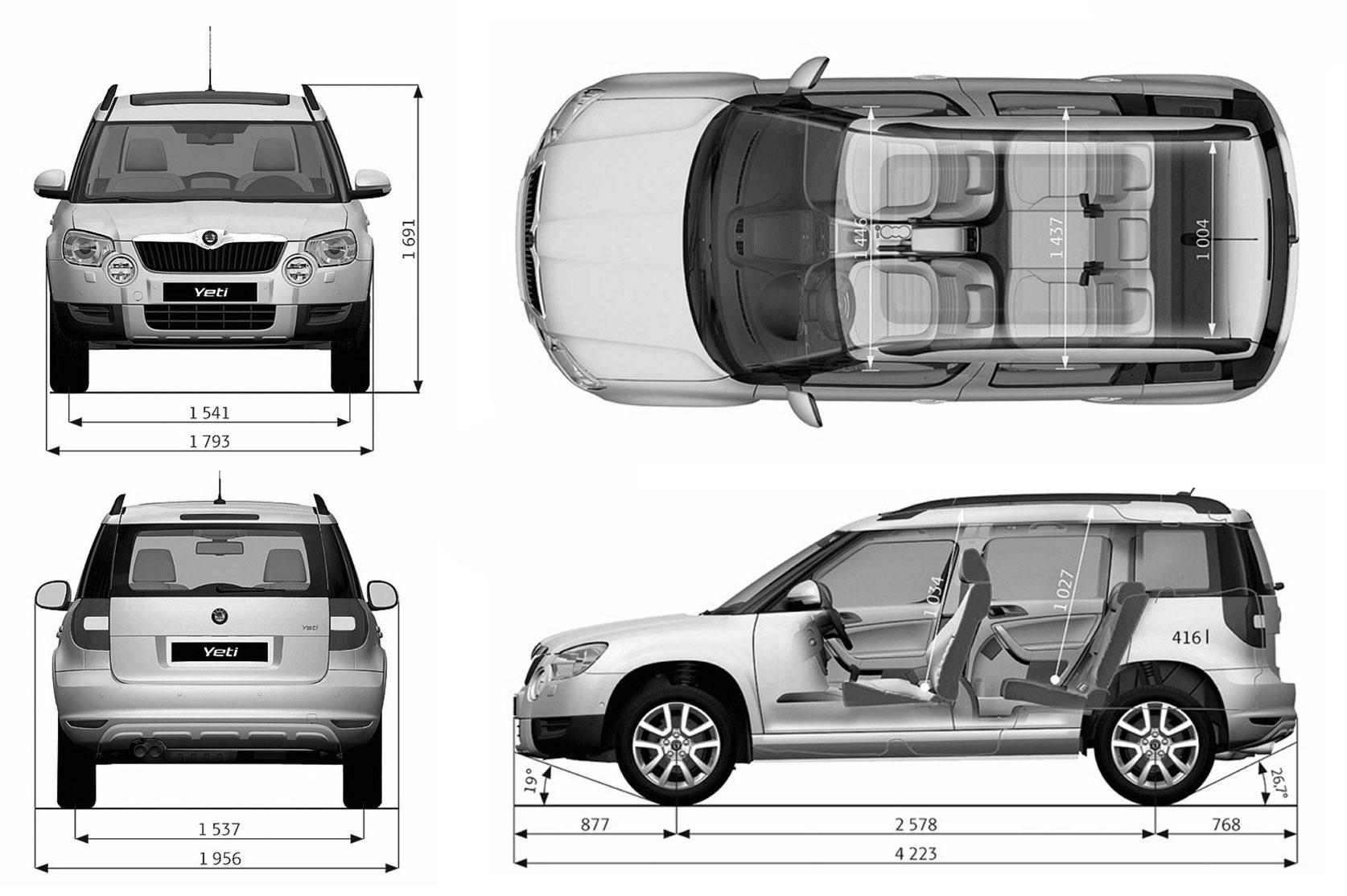 Škoda Yeti blueprint