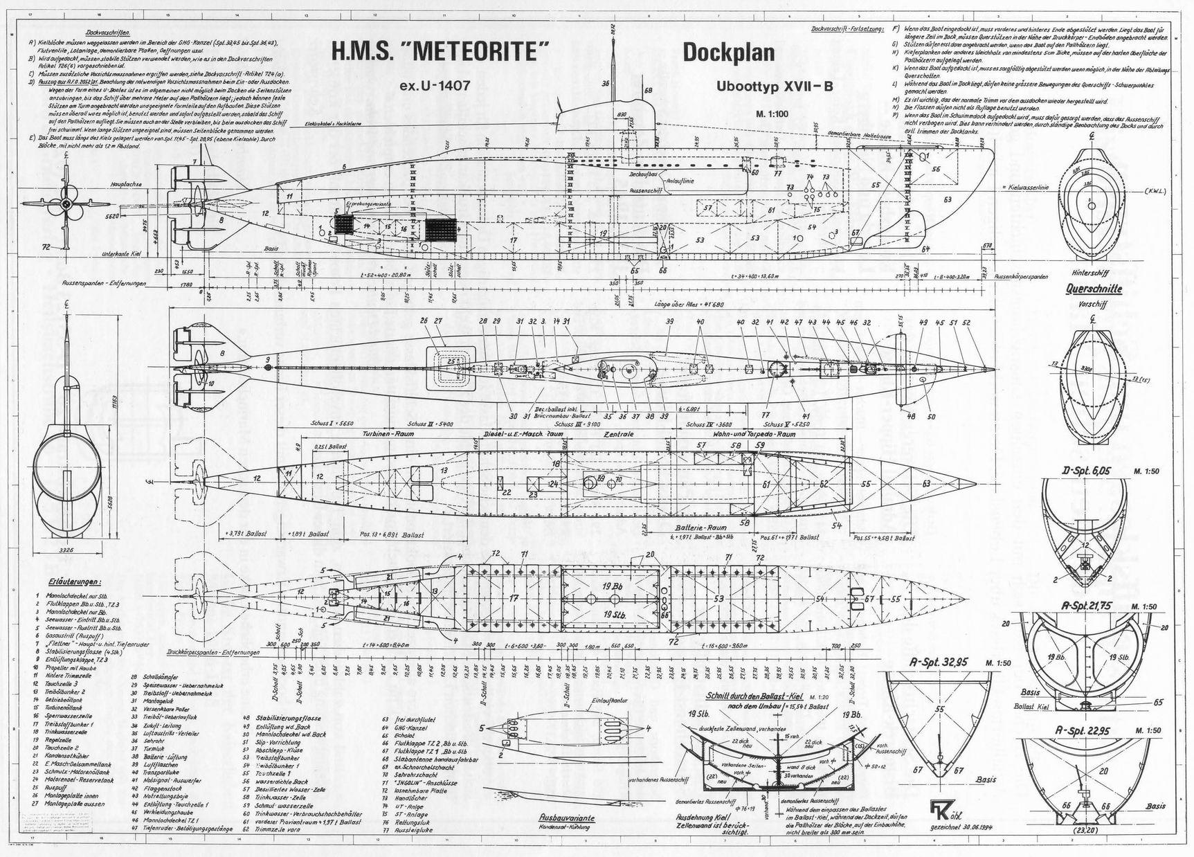 HMS Meteorite blueprint
