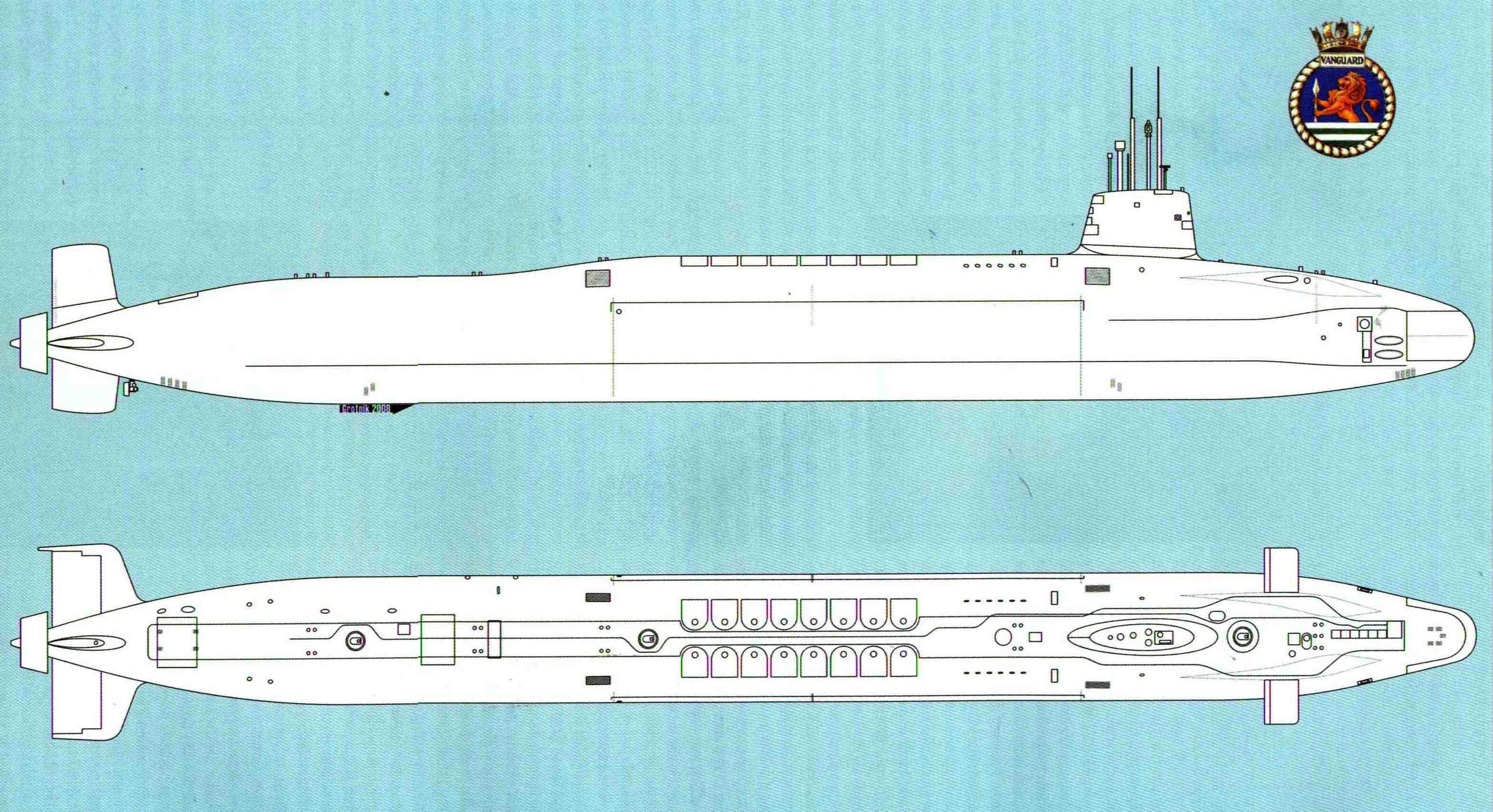 HMS Vanguard S28 blueprint