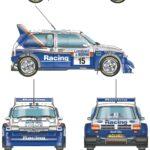 MG Metro 6R4 rally car blueprint