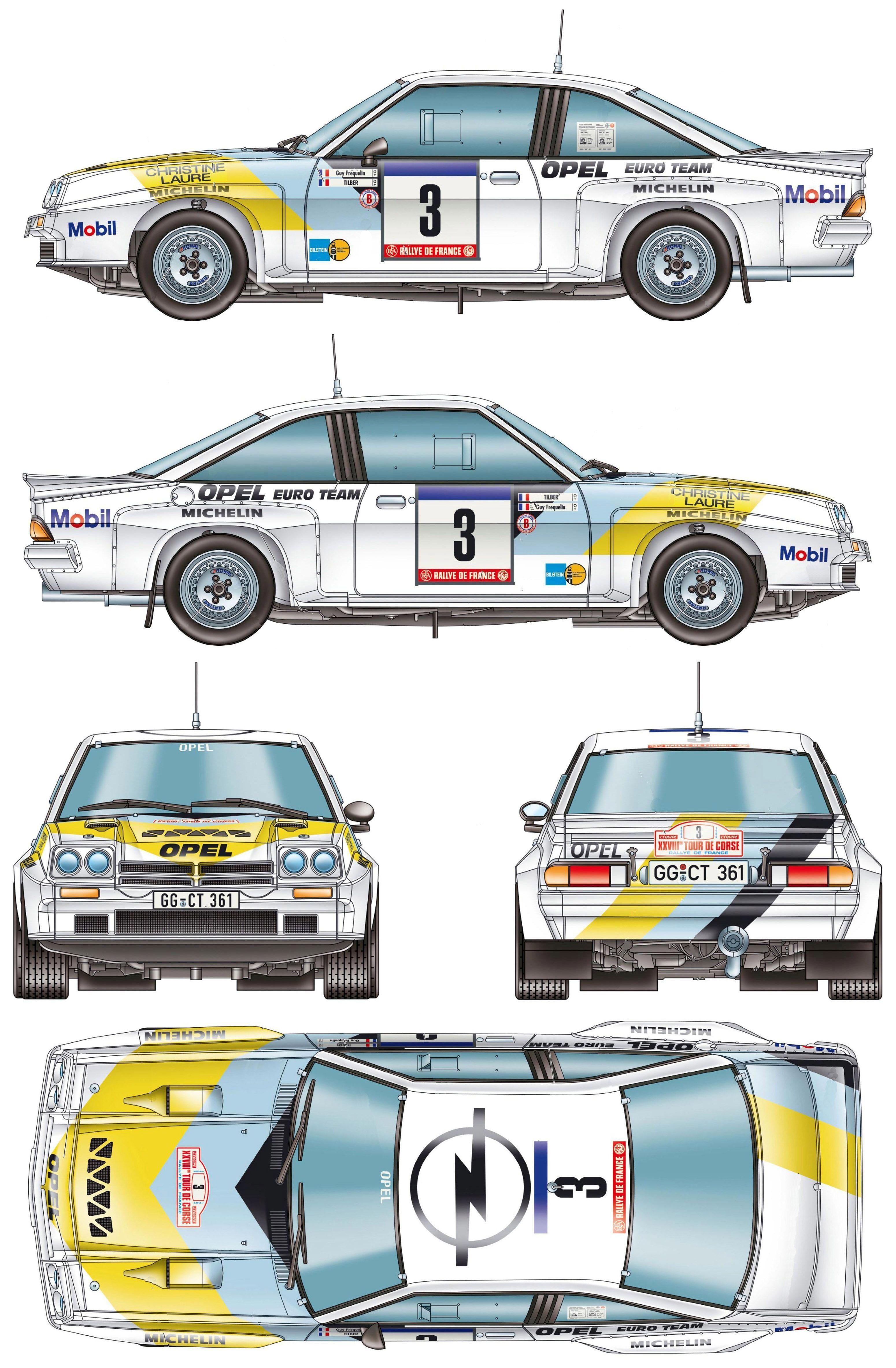 Opel Manta B 400 group B Rally Car blueprint